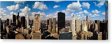 Skyline From Lake Michigan, Chicago Canvas Print by Panoramic Images