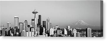 Skyline, Seattle, Washington State, Usa Canvas Print by Panoramic Images