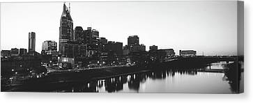 Skylines At Dusk, Nashville, Tennessee Canvas Print