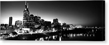 Skylines At Night Along Cumberland Canvas Print by Panoramic Images