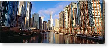 Chicago River Canvas Print - Skyscraper In A City, Trump Tower by Panoramic Images