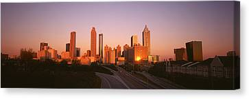 Skyscrapers In A City, Atlanta Canvas Print by Panoramic Images