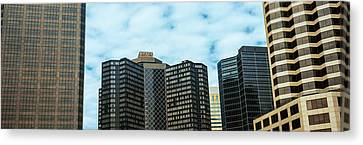 Skyscrapers In A City, Hyatt Regency Canvas Print