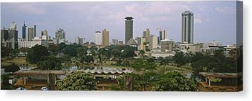 Skyscrapers In A City, Nairobi, Kenya Canvas Print by Panoramic Images