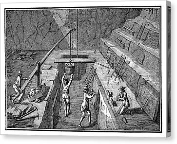 1874 Canvas Print - Slate Quarrying by Science Photo Library