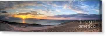 Sleeping Bear Dunes Sunset Panorama Canvas Print