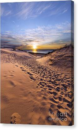 Sleeping Bear Dunes Sunset Canvas Print by Twenty Two North Photography
