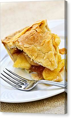 Slice Of Apple Pie Canvas Print by Elena Elisseeva