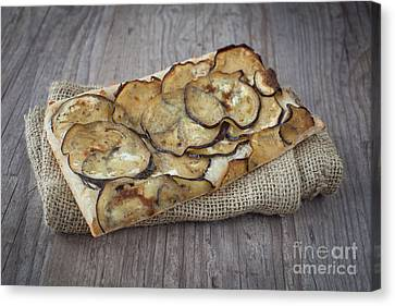 Sliced Pizza With Eggplants Canvas Print by Sabino Parente