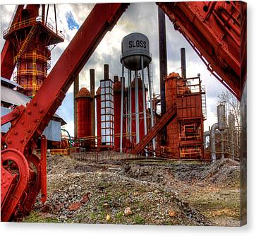 Sloss Furnace Canvas Print by Fred Baird