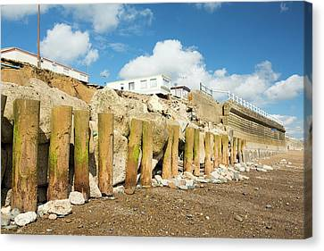 Smashed Concrete Sea Defences Canvas Print by Ashley Cooper