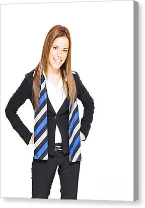 Smiling Business Woman Canvas Print