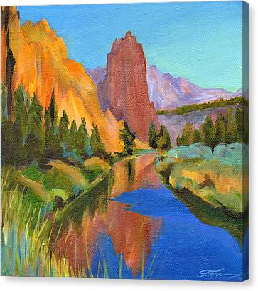 Smith Rock Canyon Canvas Print by Tanya Filichkin