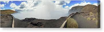 Smoke Erupting Form The Masaya Volcano Canvas Print