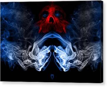 Smoke Photoart Canvas Print by Cecil Fuselier