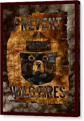 Smokey The Bear Only You Can Prevent Wild Fires Canvas Print by John Stephens