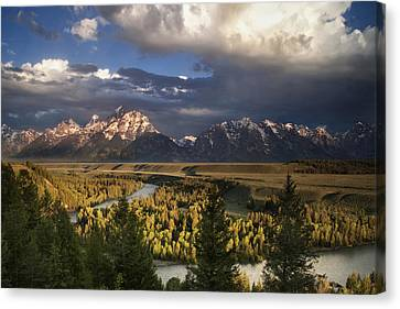 Snake River Morning Canvas Print by Andrew Soundarajan