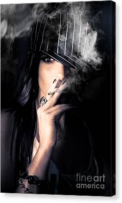 Sneaky Smoke Canvas Print