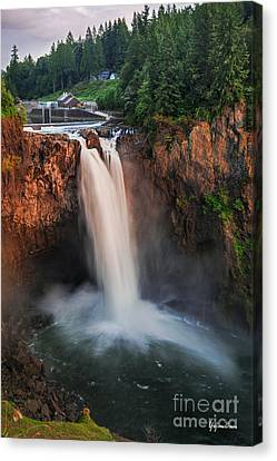 Snoqualmie Falls Canvas Print by Yefim Bam