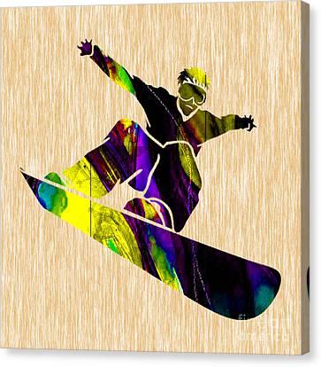 Alpine Canvas Print - Snowboarding by Marvin Blaine