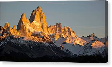 Andes Canvas Print - Snowcapped Mountain Range, Mt Fitzroy by Panoramic Images