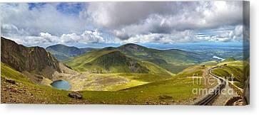 Snowdonia Panorama Canvas Print by Jane Rix