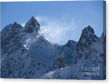Snowdrift Formation Canvas Print by Dr Juerg Alean