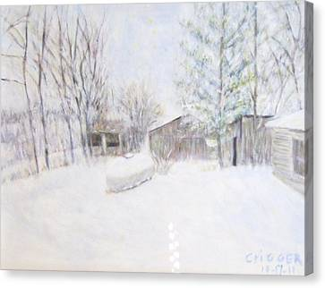 Snowy February Day Canvas Print