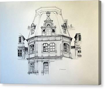 Sobanski Palace Canvas Print by Nel Kwiatkowska