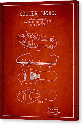 Soccer Shoe Patent From 1967 Canvas Print by Aged Pixel