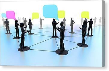 Social Media Network Canvas Print by Christian Darkin