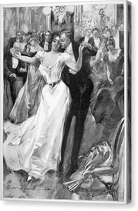 Ball Gown Canvas Print - Society Ball, C1900 by Granger