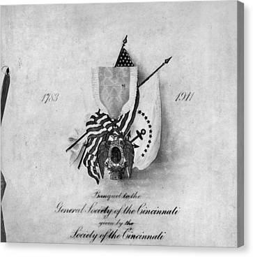 Society Of The Cincinnati Canvas Print by Granger
