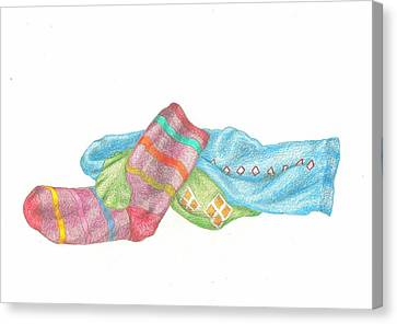 Socks 1 Canvas Print by Lew Davis