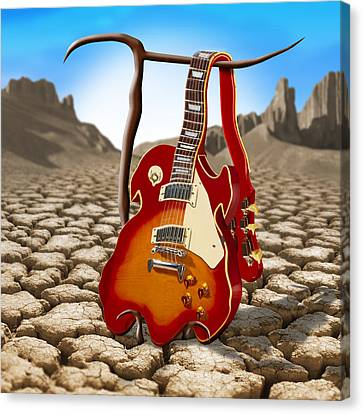 Soft Guitar II Canvas Print by Mike McGlothlen
