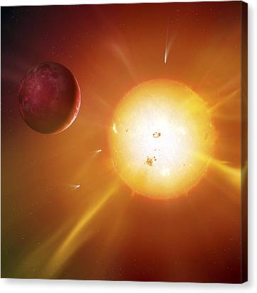 Solar System Formation, Artwork Canvas Print by Science Photo Library