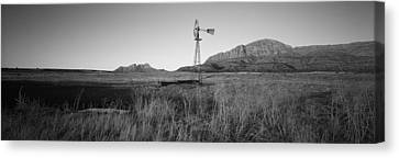 Solitary Windmill In A Field, U.s Canvas Print by Panoramic Images