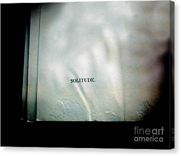 Solitude.  Canvas Print by Steven Digman
