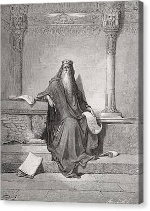 Solomon Canvas Print by Gustave Dore