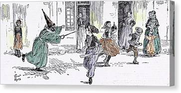Some Dresses At The Childrens Carnival In 1892 Fancy Dress Canvas Print by English School