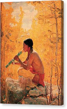 Song Of The Aspen Canvas Print by Bert Geer Phillips