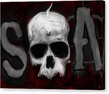 Sons Of Anarchy  Canvas Print by Mathieu Lalonde