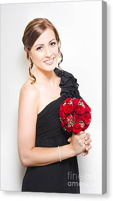 Sophisticated Bridesmaid Canvas Print by Jorgo Photography - Wall Art Gallery