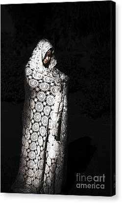 Ghostly Canvas Print - Sorceress Performing Black Magic by Jorgo Photography - Wall Art Gallery