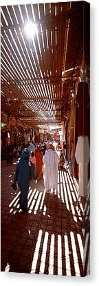 Souk, Marrakech, Morocco Canvas Print by Panoramic Images