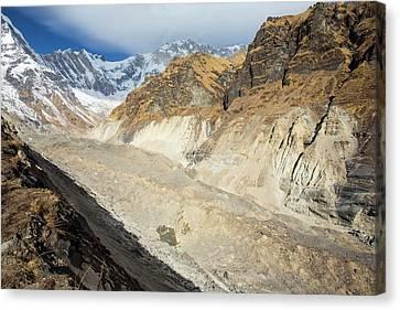 South Annapurna Glacier Canvas Print by Ashley Cooper
