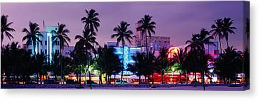 South Beach, Miami Beach, Florida, Usa Canvas Print by Panoramic Images