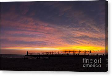 South Haven Sunset Canvas Print by Twenty Two North Photography