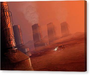 Outer Space Canvas Print - Space Exploration by Victor Habbick Visions