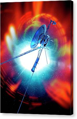 Space Probe In Outer Space Canvas Print